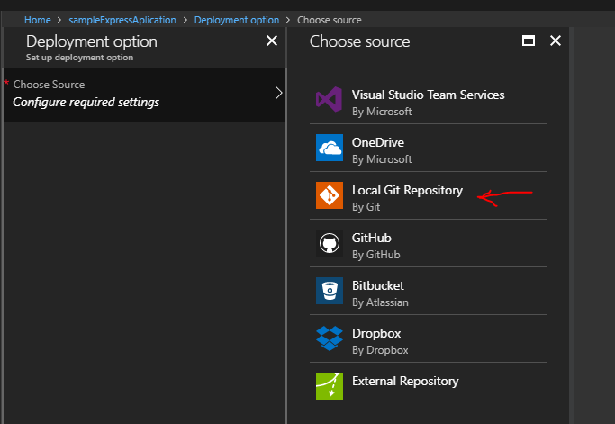 Creating and Deploying Express Web App on Azure in few steps – The