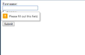 Html5 self validating forms